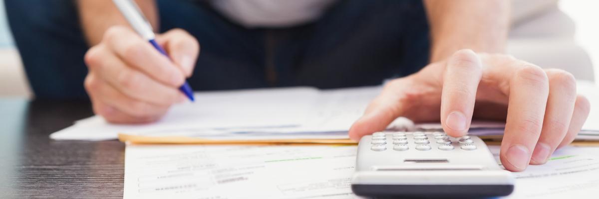 calculator with bills