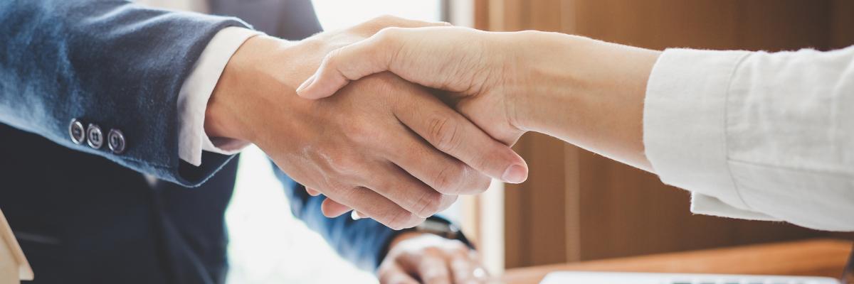 Helping hand hand shake advice